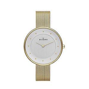 Skagen Gold Tone Mesh Bracelet Watch